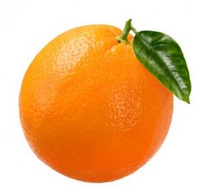 An Orange... David Dickinson's favourite fruit.