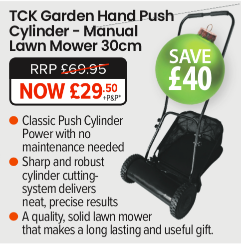 Garden Gift Ideas for Christmas the TCk Hand push - Manual Lawn Mower