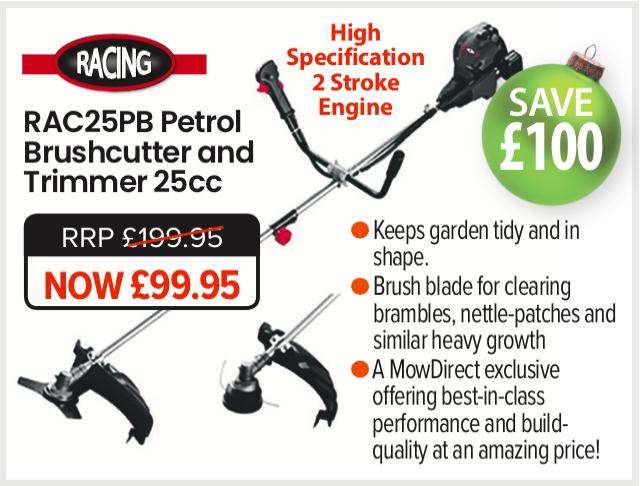 Garden Gift idea - 25Pb Racing Brushcutter - Christmas Gift Ideas