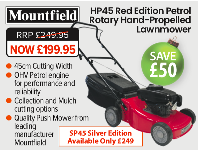 Mountfield H45 Red - Gift Ideas for Gardeners