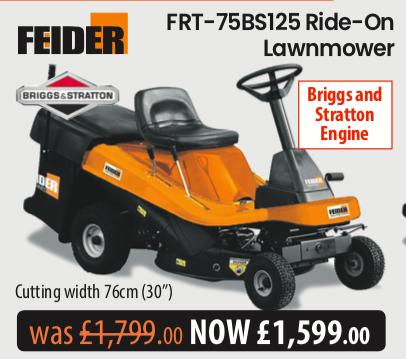 Feider FRT-75BS125 Ride On Mower UK Dealer Tetegraph Offer