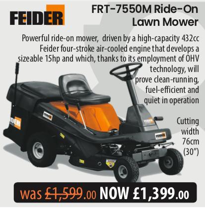 FR 7550m Ride On Lawn Mower. Telegraph Offer