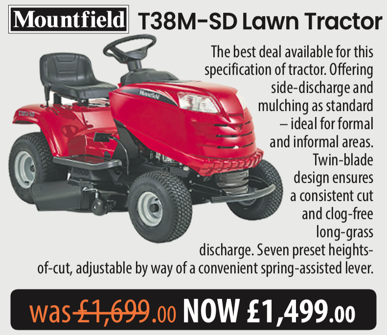 Mountfield T38M-SD Lawn Tractor Daily Telegraph Offer