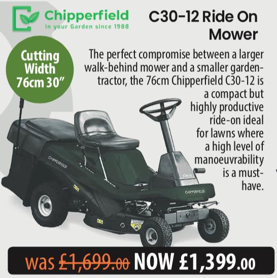 Chipperfield C30-12 Ride On Mower Telegraph Offer